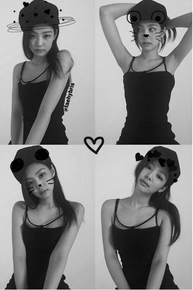 Collage of Jennie 🖤  #kpop #jennie #jenniekim #blackpink #collage #black #blackpinkjennie #tumblr