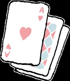 poker card aliceinwonderland cartoon handpainted