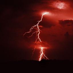 red redaesthetic cuteness love lightning