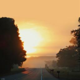 pcwindingroads windingroads freetoedit morningfog sunrise
