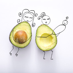 avocado avocadobaby baby pregnant doodle freetoedit