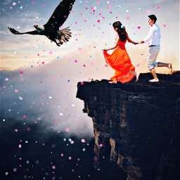 unsplash freetoedit cliffsedge couplegoals eagle