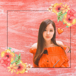 freetoedit rose blackpink rosé orange
