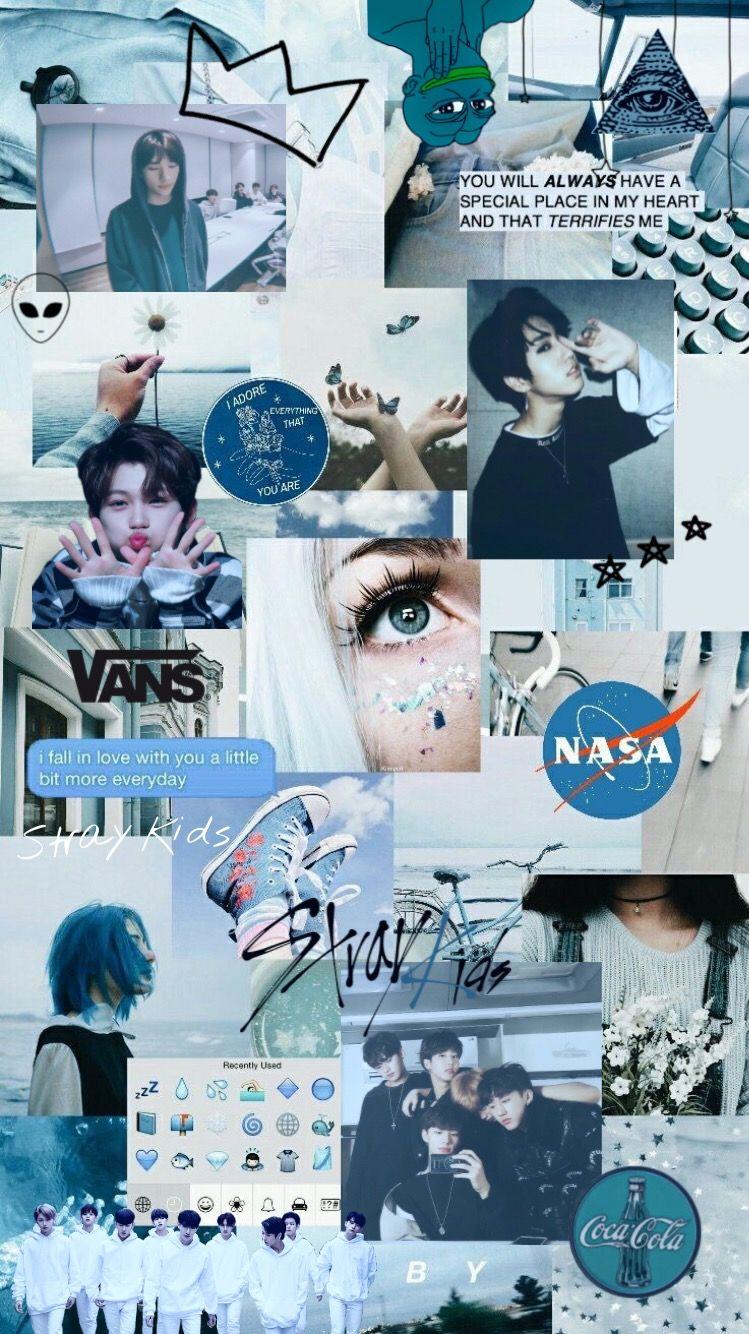 Stray Kids Wallpaper Blue Koco Edits Freetoed