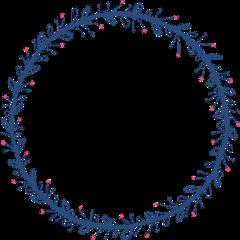 freetoedit blue circle circleframe flower