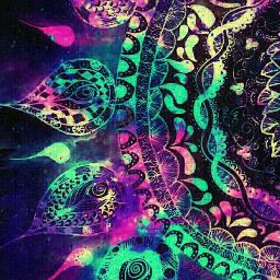 freetoedit mandala galaxy bacground black