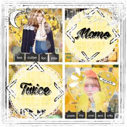 freetoedit momo twice yellow kpop