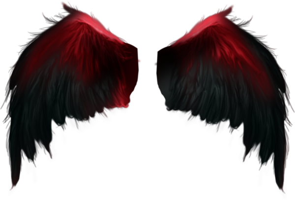 Wings Wing Feathers Red Black Angel Demon Ftestickers