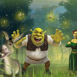 freetoedit shrek fiona donkey swamp