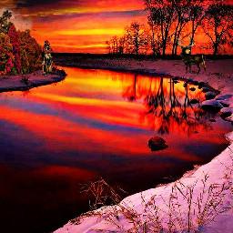 freetoedit winterscenes colorfulsunsets wintercolors wintersunset