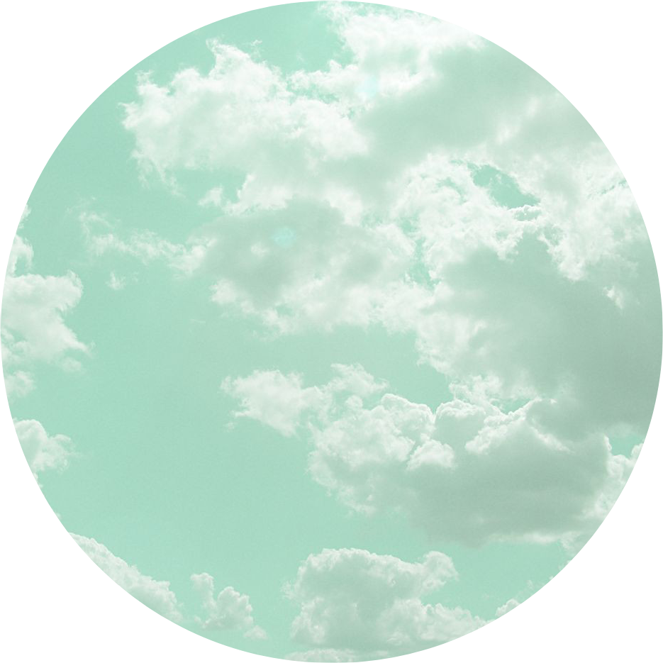 clouds aesthetic mint aqua green mintgreen mintclouds