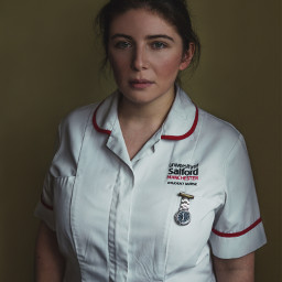portrait feature woman nurse naturallight