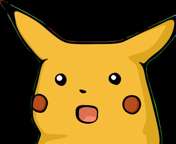pikachu pokemon meme wow shook shocked...
