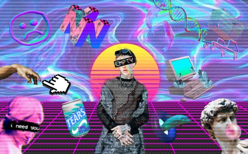 #vaporwave #aesthetic #lilpeep #wallpaper