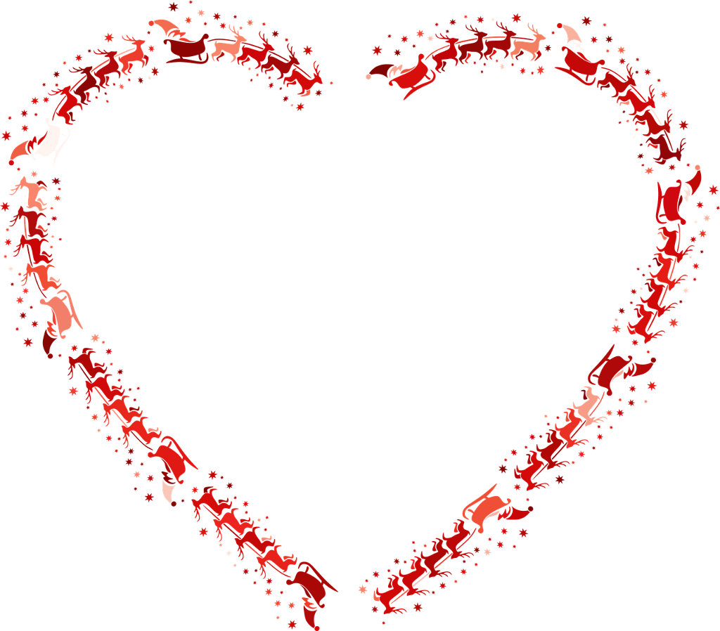 Christmas Heart Vector.Vector Christmas Heart Freetoedit