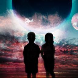 freetoedit thisisthewaytheworldends notwithabangbutawhimper silhouette stormeday srcspacesaturday