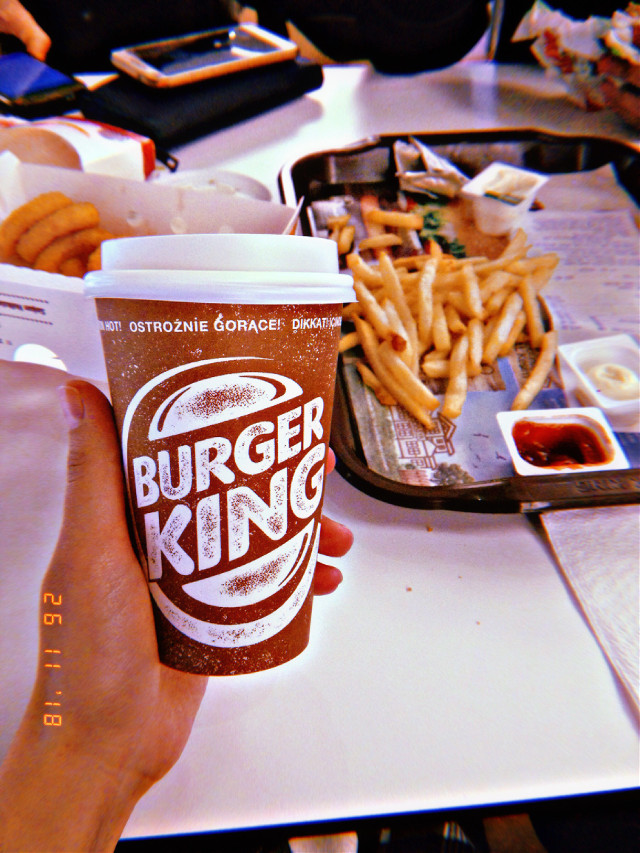 #freetoedit #burgerking #potatoes #frypotatoes #cappucino #coffee #good #yummyfood #deliciouscoffee
