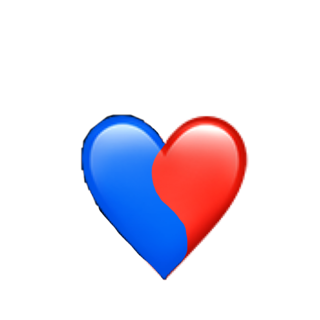 #Red #blue #heart #freetoedit