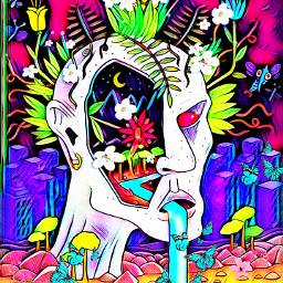 freetoedit trippy artistic abstract cartoonart