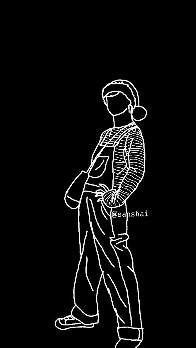 #freetoedit #doodledrawing #parkjimin #wallpaper #lockscreen #btsjimin #jiminedit
