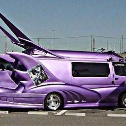freetoedit purple pimped minivan car