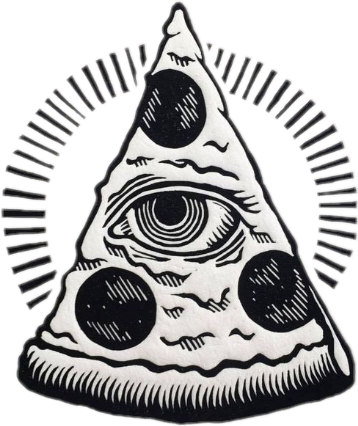 #blackandwhite #pizza #illuminati #eye