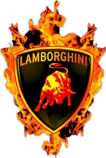 #Lamborghini #badge #fire