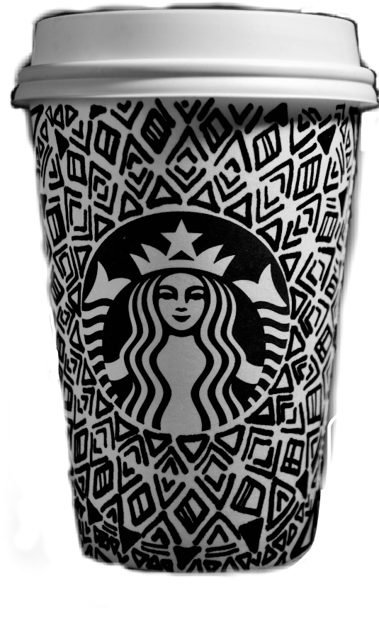 #starbucks #coffee #black #white #doodle #black&white #cup