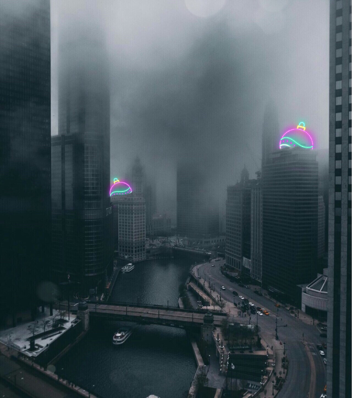 #freetoedit #neon #foggy #interesting #urban