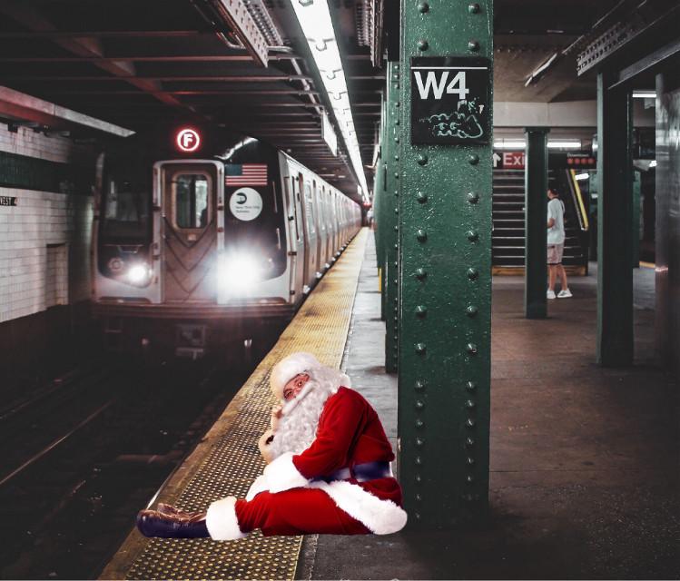 #freetoedit #santa #subway