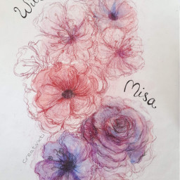 art drawing flowers