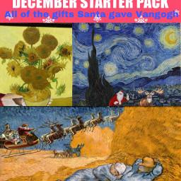 ircdecemberstarterpack decemberstarterpack freetoedit vangoghart santa