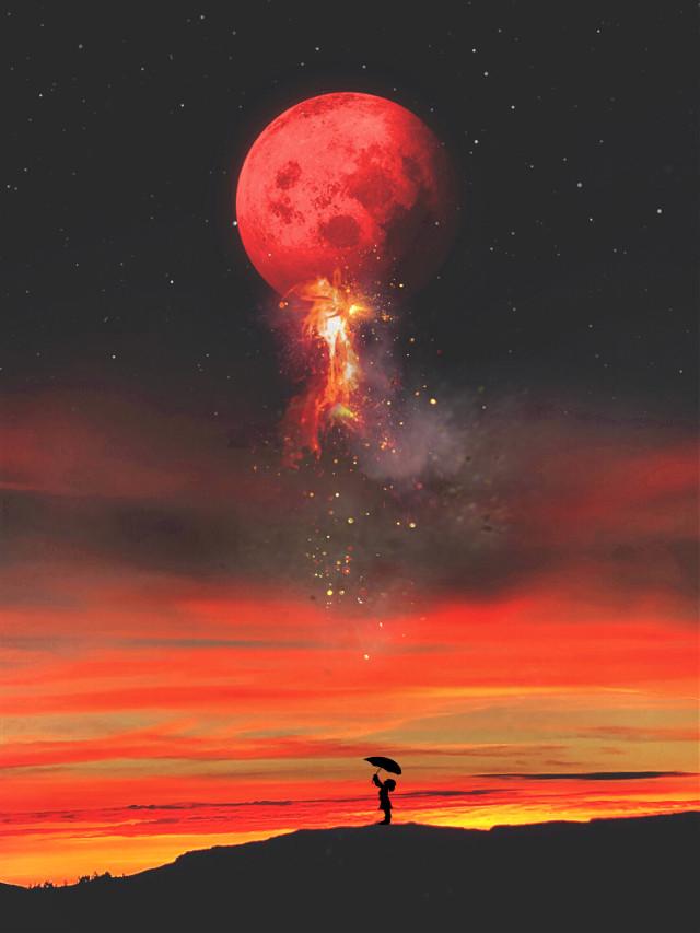 #freetoedit #interesting #madewithpicsart #sunrise #myedit #moon #sky #skylovers    Happy saturday to All 💕💕❤️🤗