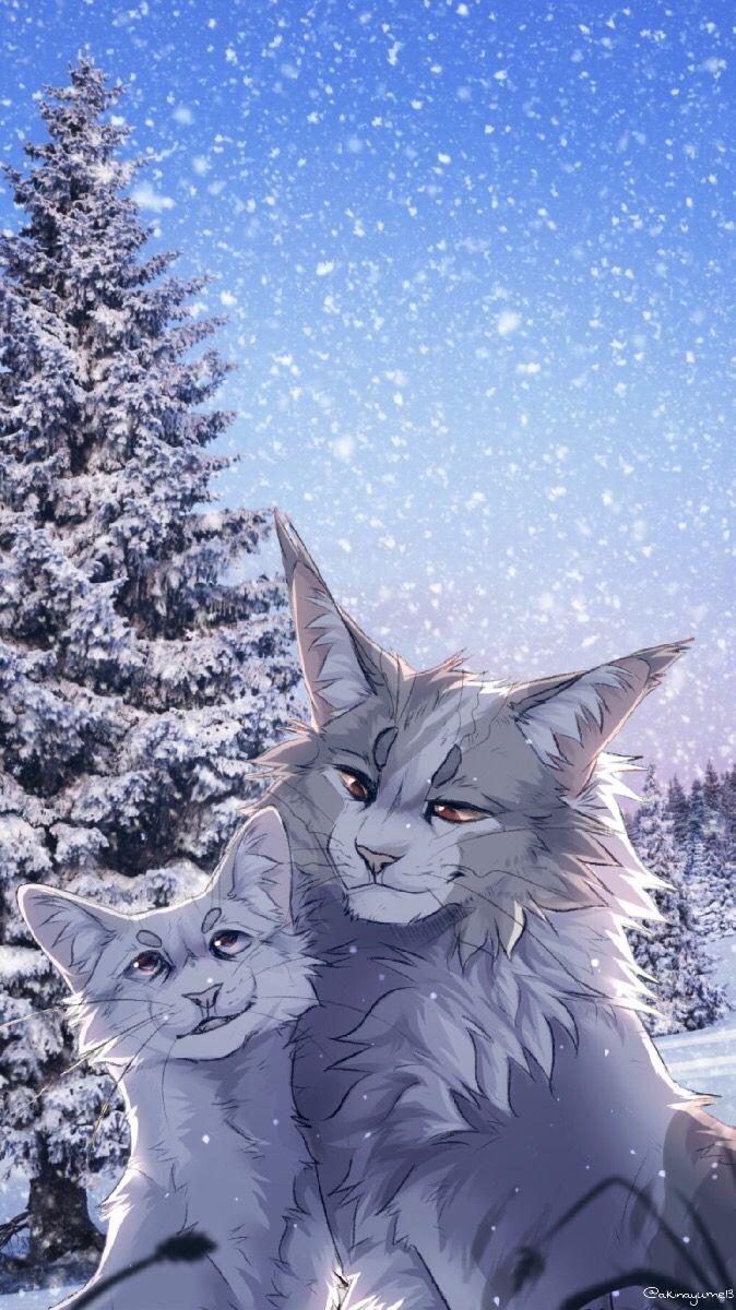 Warriorcats Snowfur Thistleclaw Winter Cats Iphonewallp