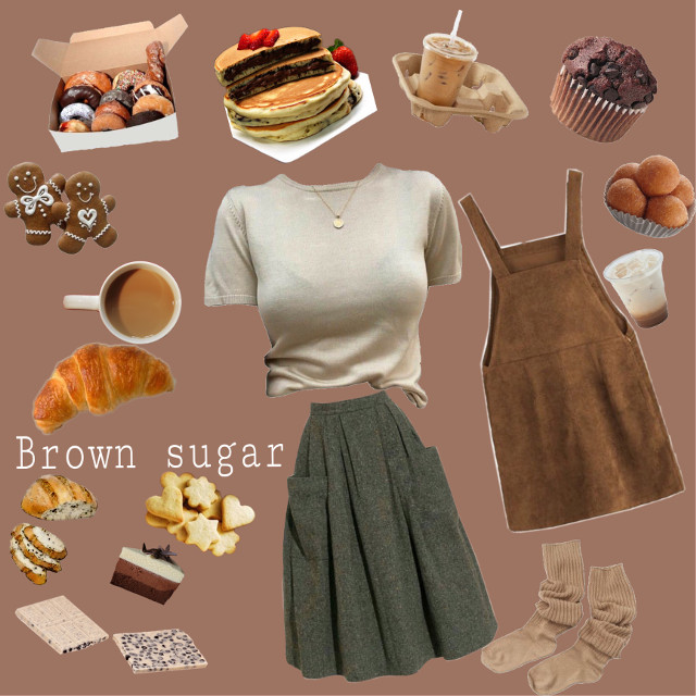 #moodboard #niche #brown #bread #donuts #muffin #pancake #cake #brownsugar #asthetic #mood #drinks #skirt #clothes
