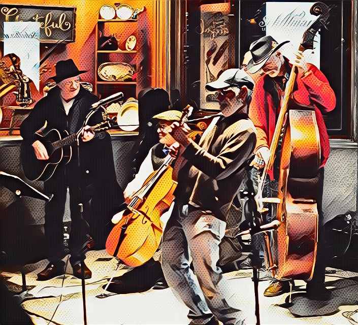 Street performers at Christmas   #street #performers #band #music #cello #guitars #bass #art