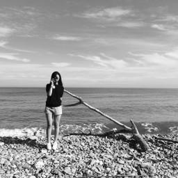 blackandwhite sea