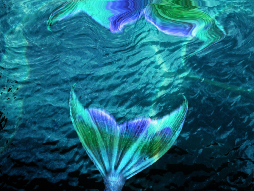 #freetoedit  #mermaid #ocean #blue #green #purple #magic #underwater
