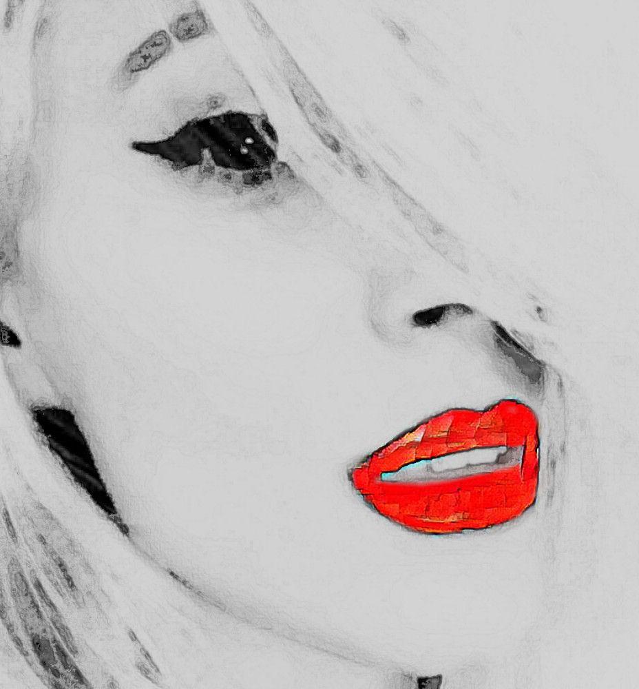 Freetoedit Red Lips Cartoon Face Cool Source Picsart