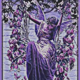 freetoedit remixed purples purple angel
