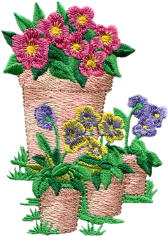 embroidery flowers flowerpot colourful please freetoedit