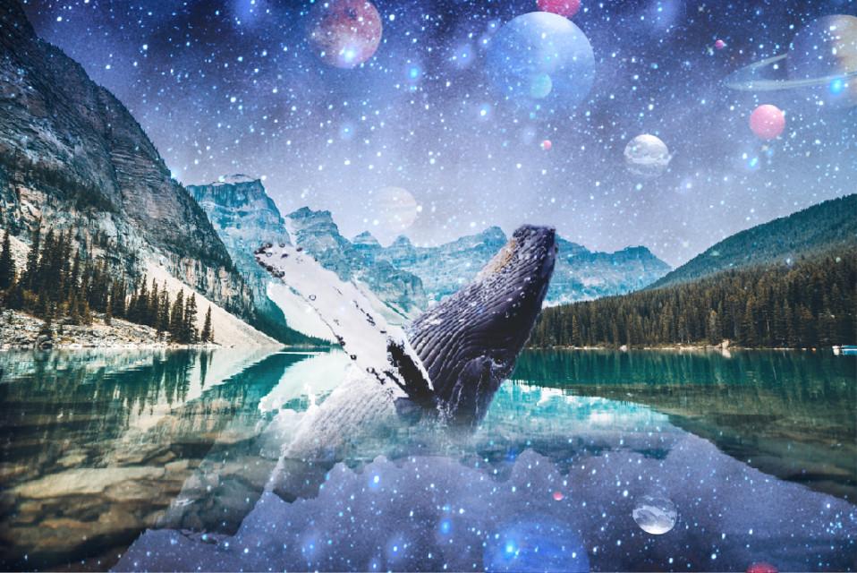 #freetoedit #galaxy #galaxyedit #galaxyremix #whale #whaleremix #planets #stars #planet #universe #view #lake #lakeview #mountain #nature #remix #remixedit #remixit #art #interesting