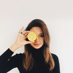 freetoedit girl lemon magic wintertime pcface