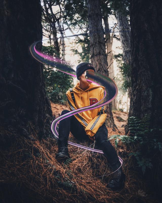 @picsart @freetoedit @photoshop @adobe #picsart #photoshop #adobe #photo #edit #face #effect #portrait #woods #trees #color #hole
