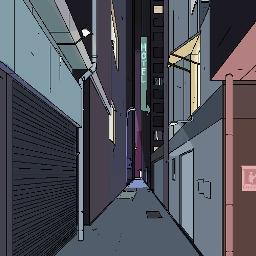 pixel art nightscene digital