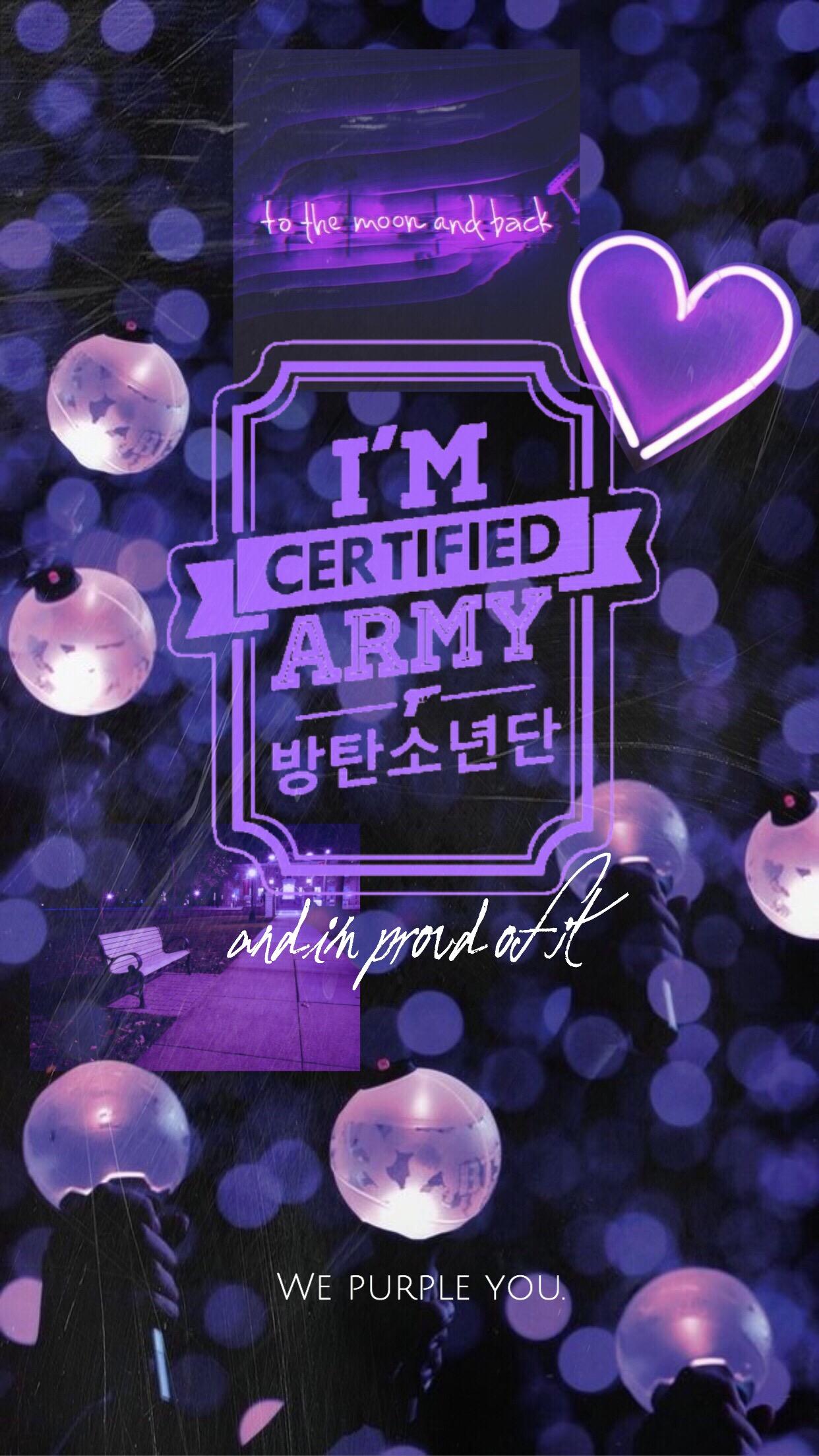 Armybts Army Ipurpleyou Wallpaperedit Wallpaper Bts Pur