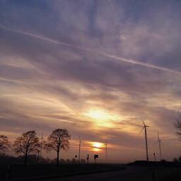 sunset sungoesdown deserted sky