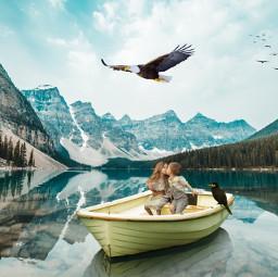 ircwinterscape winterscape freetoedit eagle romance