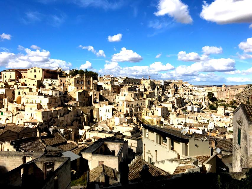 Matera 💛 #italy #basilicata #sassidimatera #freetoedit