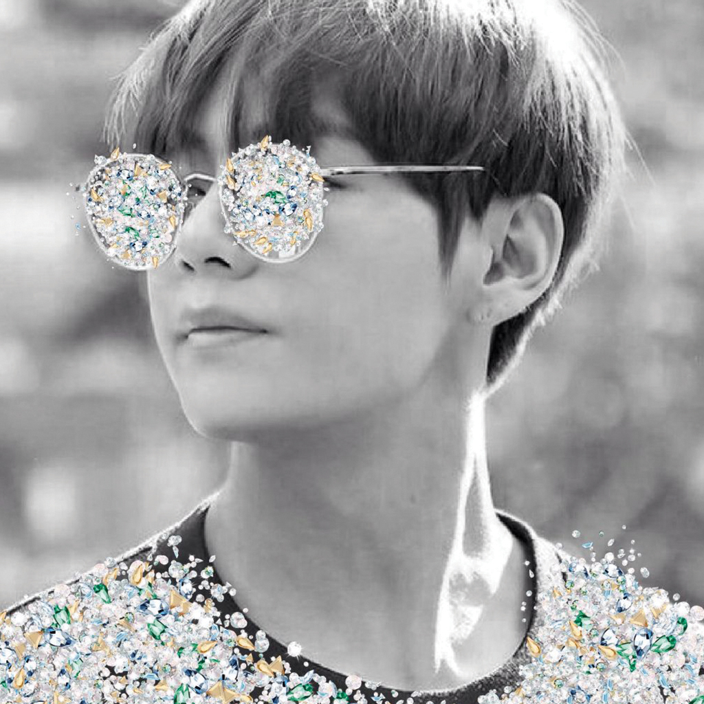 Eyeglass with Swarovski crystals